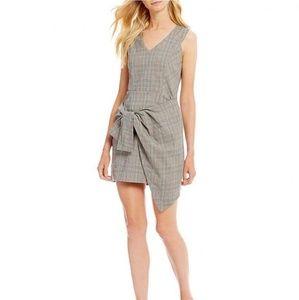NWT Gianni Bini Ava gray plaid wrap dress,L